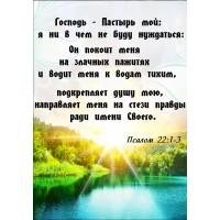 Магнит 7Х10,5см: Господь-Пастырь мой; я ни в чем не буду нуждаться Пс.22:1-3