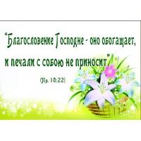 Магниты природа и цветы: Благословение Господне-оно обогащает, и печали с собой не приносит Пр.10:22