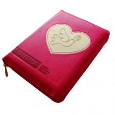 Біблія 045 zti рожева (біле серце) українською
