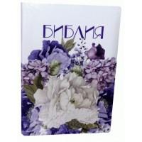 Библия 57 ti белая цветочный принт (кожзам, индексы)