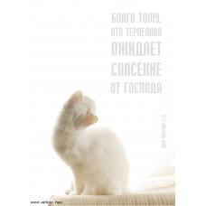 Христианский блокнот: Благо  тому, кто терпеливо ожидает спасение от Господа Пл. Иеремии 3:26 (90 лист., в клеточку)