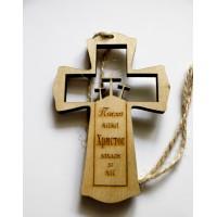 магнит из дерева Крест вырезанный